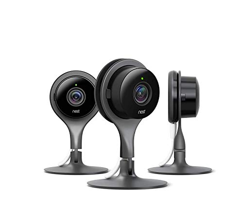 Nest Security Camera, Keep an Eye On What Matters to You, from Anywhere, for Indoor Use (3-Pack)...