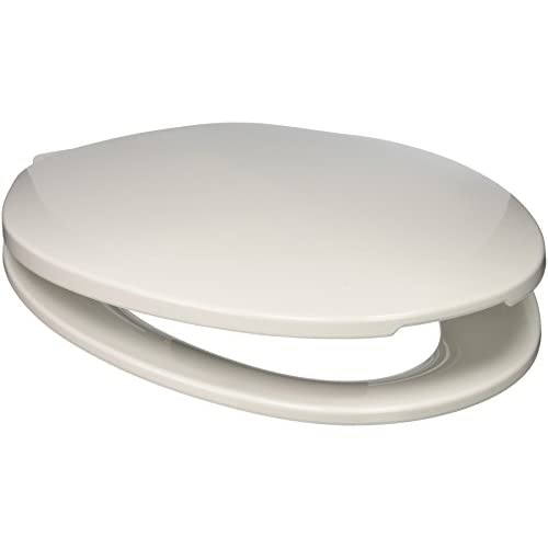 lovely PlumbTech 211-00 Builder Grade Plastic Top Mount Elongated Toilet Seat with Adjustable Hinge, White