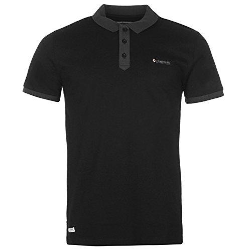 Lambretta Herren Poloshirt Schwarz schwarz