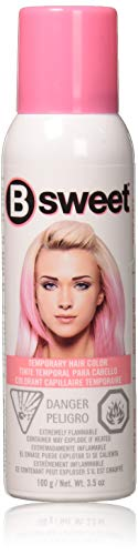 Jerome Russell Bsweet Temporary Hair Color Spray, Pale Pink, 3.5 Ounce (Spray Color Pink Temporary Hair)