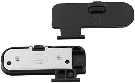 PhotoTrust 2 Pieces Battery Door Cover Lid Cap Replacement Repair Part Compatible with Nikon D3200 DSLR Digital Camera