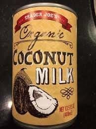 Trader Joe's Organic Coconut Milk 13.5 FL. OZ. (Pack of 2)