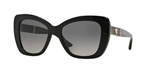 2d6c8f38478cd Versace Womens Sunglasses (VE4305) Black Grey Acetate - Polarized - 54mm