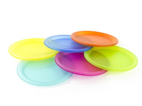 Colorful Plastic Picnic/Party Supply Set - Plastic Plates - 6 Pieces
