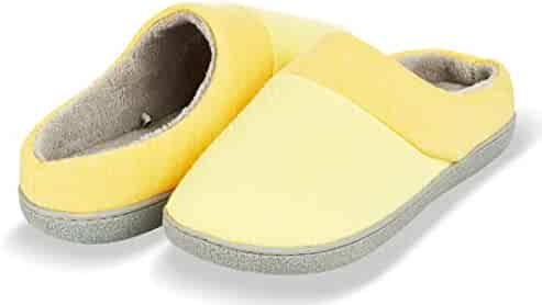 0d6ad3a51 Floopi Slippers for Women's Memory Foam Deluxe Clog Scuff/Mule House Slip- Ons for