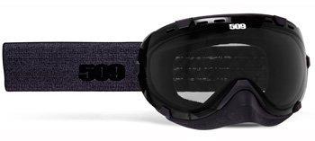 509 Aviator Snowmobile Goggles - Black Denim - Smoke Tint Lens by 509