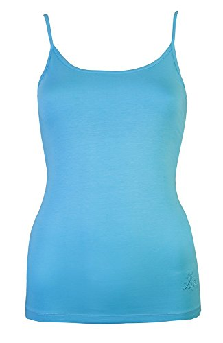 Da donna gilet da donna canottiera da ginnastica con reggiseno sostegno Cami Tops di Brody & Co Yoga per abbigliamento danza da estivo da spiaggia Wear Turquoise