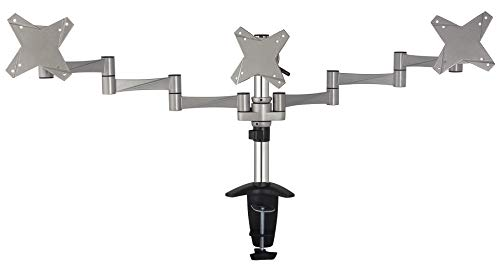 Arm Extension Grommet Desk Mount - Gladiator Joe Heavy Duty Triple/Three Desktop Monitor Mount/arm VESA Compatible | Fully Adjustable articulating arm | Supports Heavy Monitors | 13 to 21.5 inch | 17.6 lb Each arm