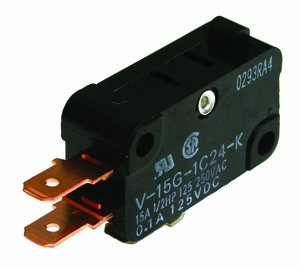 NTE Electronics 54-412 Standard Snap Action Switch, SPST-NC Circuit, 110 g Operating Force, Pin Plunger Actuator, Quick Connect Terminals, 15 Amp, ()