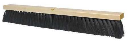 Osborn 81233SP Economy Broom Head, Medium Sweeping, Polypropylene and Horsehair, 30'' Block Length, 2-3/4'' Trim Length, Black