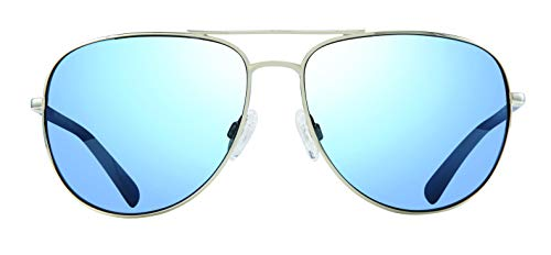 Revo Men's Polarized Sunglasses Harbor Navigator Frame 60 mm Aviator, Gold, Terra (Harbor Glass)