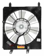 Acura Tsx Condenser - TYC 610940 Acura TSX Replacement Condenser Cooling Fan Assembly