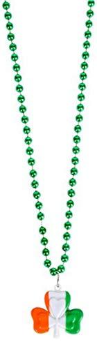 Irish Flag Shamrock Bead Chain 33