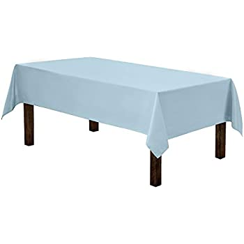 Gee Di Moda Rectangle Tablecloth - 60 x 84 Inch - Baby Blue Rectangular Table Cloth for 5 Foot Table in Washable Polyester - Great for Buffet Table, Parties, Holiday Dinner, Wedding & More