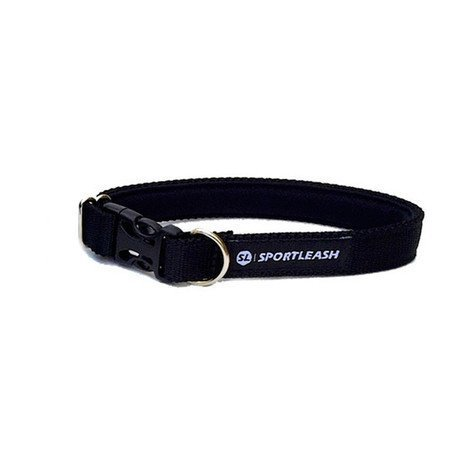 Neoprene-Lined Dog Collar (SportCollar) - Black on Black