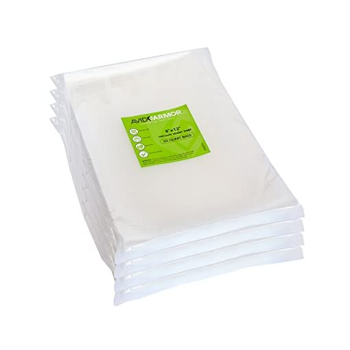 Vacuum Seal Bags Quart Size 8x12 Inch for Food Saver, Seal a Meal Vac Sealer, Sous Vide Vacume Cooking Safe