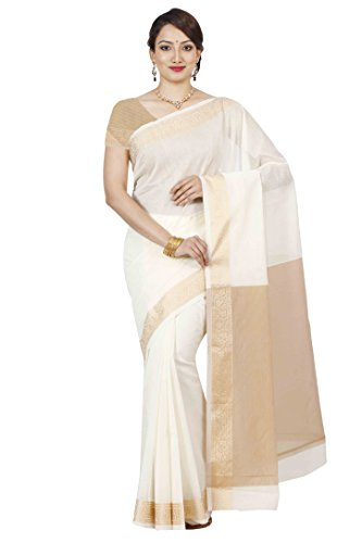 Mimosa Cotton Silk Saree Kanjivaram Style With Blouse Color Off - Stores South Mall Plains