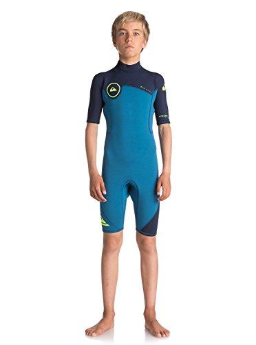2mm Short Sleeve Boys Wetsuit (Quiksilver Boys 2/2Mm Syncro Series - Short Sleeve Back Zip Flt Springsuit Short Sleeve Back Zip Flt Springsuit Black 10)