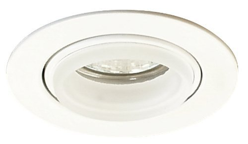 Elco Lighting E233W Mini MR16 Downlight with Diecast Gimbal Ring and Glass Ring ()