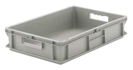 Solid Wall Stacking Cntner, 24x16x5, Gray (Schaefer Organizer)