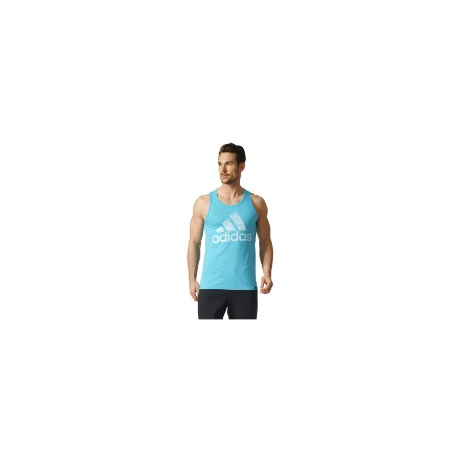 adidas mens Adidas men's athletics badge of sport fade tank