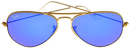 Ray Ban Sunglasses Aviator Gold/ Blue Mirrored Lens Unisex RB3025 112/17 55