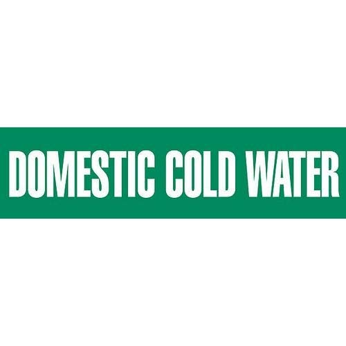 GHS Safety PM1090RG,''Domestic Cold Water'' Sheet and Pipe Marker, Pack of 10 pcs
