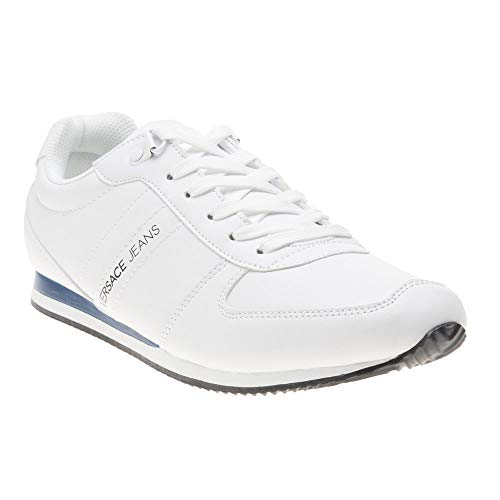 Versace Jeans Runner Mens Sneakers White (White Jeans Versace)