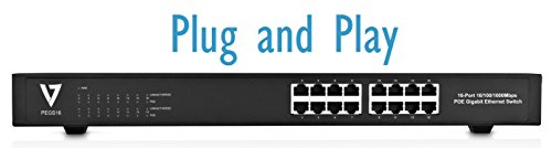 V7 PEGS16-1N 16PORT Unmanaged Poe Switch by V7 (Image #2)