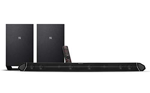 "Nakamichi Shockwafe Plus 5.2Ch 500W 45-Inch Sound Bar with Dual 8"" Wireless Subwoofers"