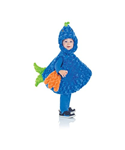 Toddler Girl Fish Costume (Underwraps Baby's Big Mouth Fish Belly-Babies, Blue/Green/Orange, Medium)