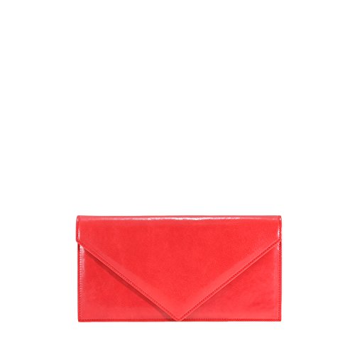 GION Bora Women Burgundy Leather Clutch Evening Bag by GION leather goods