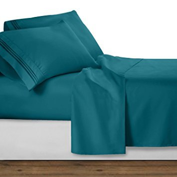 UHCBeddings Unique Hotel Collection 600TC Or 600 Thread Count 100% Egyptian Cotton Duvet Cover Set, Durable and Fade Resistant,Ultra Soft, Zipper Closure, Queen, Teal Blue