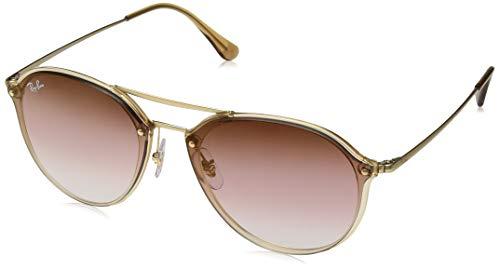 Ray-Ban RB4292N Blaze Double Bridge Square Sunglasses, Light Brown/Dark Red Gradient Mirror, 61 ()