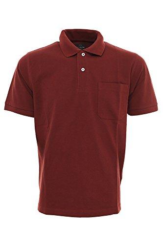 Kitaro Polo Poloshirt Herren Kurzarm Piquè, Farbe:bordeaux;Herrengrößen:S