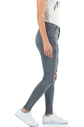 para Skinny Gris Vaqueros Mujer malucas 6qHwPT5