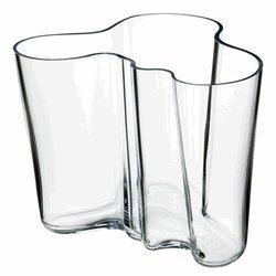 Aalto Clear Vase (Iittala Aalto 4-3/4-Inch Clear Glass Vase)