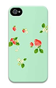 iPhone 4S Case Lovely Strawberry Pattern Hard Back Skin Case Cover For Apple iPhone 4 4G 4S Cases