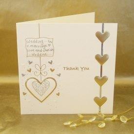 Luxury boda tarjetas de agradecimiento - unidades 5 crema y ...