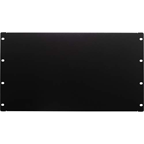 NavePoint 6U Blank Rack Mount Panel Spacer for 19-Inch Server Network Rack Enclosure Or Cabinet Black