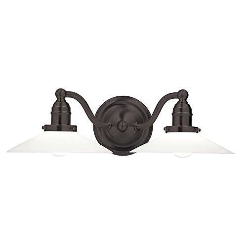 Swinging Wall Lamp (Hadley 2-Light Vanity Light - Old Bronze Finish with Opal Matte Glass Shade)