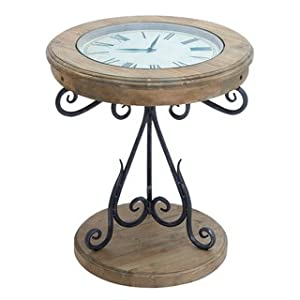Amazoncom Unique Round Clock Coffee table and End Tables your