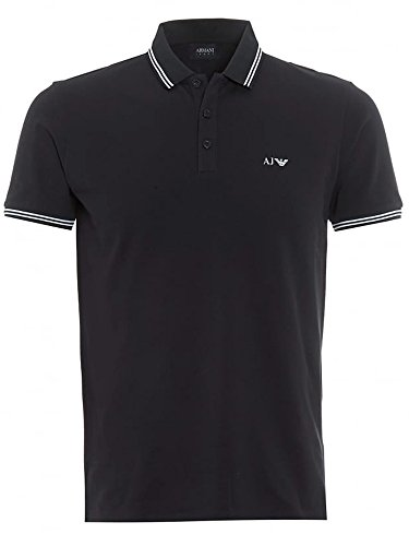 Emporio Armani Armani AJ Mens Classic Polo Shirt (Black, Small)