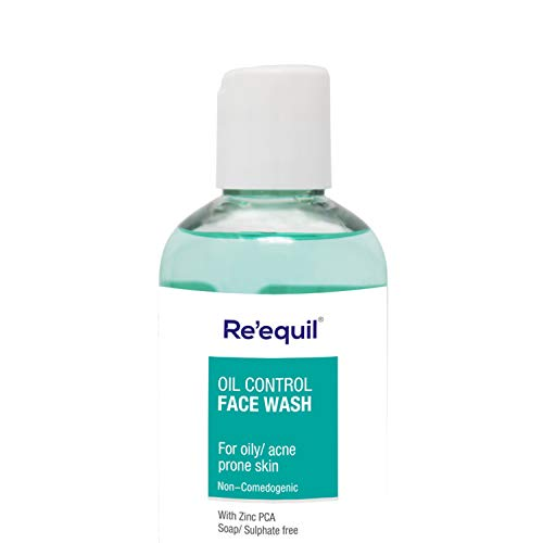RE' EQUIL Oil Control Anti Acne Face Wash for Oily, Sensitive and Acne Prone Skin – 200ml, Sulphate Free, Soap Free