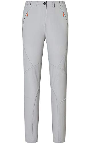 Gash Hao Hiking Pants Women Outdoor Travel Quick Dry Lightweight Water-Resistant Stretch Trail Pants(Grey M) ()