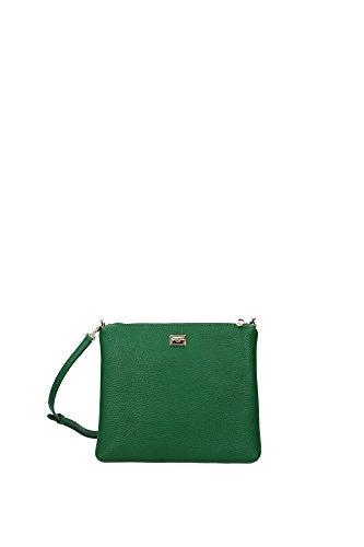 Borse a Tracolla Dolce&Gabbana Donna Pelle Verde e Multicolore BI0809AB5148H526 Verde 2.5x17.5x21 cm