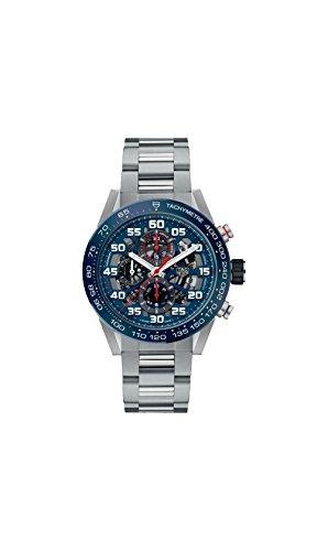 Tag Heuer Carrera Skeleton Blue Dial Automatic Mens Chronograph Watch CAR2A1K.BA0703