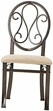 Dining Chairs - Set of 4 - Dark Brown Frame with/Beige Seat