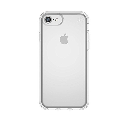 Speck iPhone 8 Presidio Clear Case, Slim IMPACTIUM 8-Foot Drop Protected iPhone Case that Resists UV Yellowing, Clear