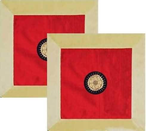 Funda de cojín de seda Oriental (rojo): Amazon.es: Hogar